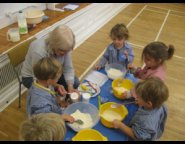 Sudbrook School Nursery Children Cooking
