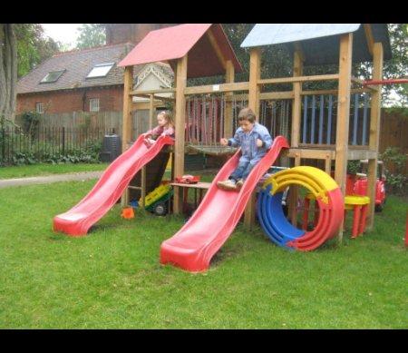 Sudbrook School Children playing in the Garden